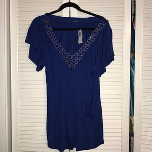 Soprano royal blue 2x blouse